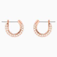 Stone Ohrringe, klein, rosa, rosé Vergoldung