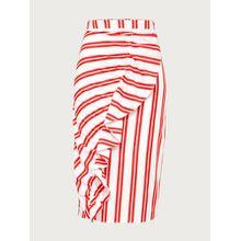 EDITED Rock 'Caja' Damen rot/weiß