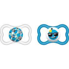 Schnuller Air, Silikon, Gr. 2, blau, 2er Pack