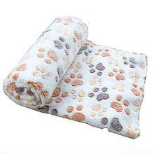 lumanuby 1PCS Hund Kuscheldecke Super Soft Warm Lovely Haustier-Bett für Welpen Cat Decke Knochen Design Teppich Pet Supplies, beige, 100*80cm L