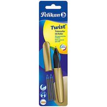 Tintenroller Twist R457 Pure Gold, inkl. 2 Rollerpatronen gold