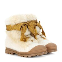 Ankle Boots aus Shearling
