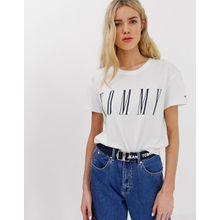 Tommy Jeans - T-Shirt mit Grafik-Logo - Weiß