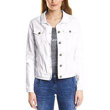 Cecil Damen Jeansjacke 210681 Hedda, Weiß (White 10000), 46 (Herstellergröße: XL)