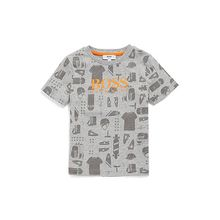 Kids-T-Shirt aus Baumwolle mit Allover-Print