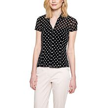 comma Damen Bluse 85.899.32.0113, Gr. 38, Grau (grey/black dots 99M2)