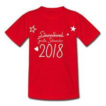 Spreadshirt Große Schwester 2018 Statt Einzelkind Kinder T-Shirt, 110/116 (5-6 Jahre), Rot