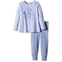 Sanetta Mädchen Zweiteiliger Schlafanzug 231738, Gr. 98, Blau (sky blue 5981)