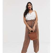 Koko - Gestreifte Hose mit Paperbag-Taille - Mehrfarbig