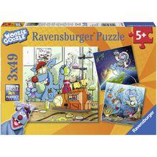 Ravensburger Puzzle Woozle Goozle im Weltall, Labor und Unterwasser