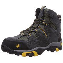 Jack Wolfskin BOYS MTN ATTACK MID TEXAPORE, Jungen Trekking- & Wanderstiefel, Grau (burly yellow 3800), 30 EU (11.5 Kinder UK)
