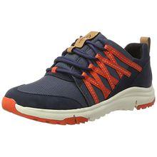 Clarks Damen Tri Trail Sneaker, Blau (Navy Combi), 37.5 EU