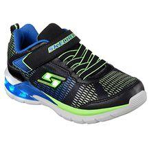 Skechers Jungen Erupters Ii Sneaker, Schwarz (Black/Blue/Lime Bblm), 36 EU