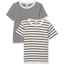 Petit Bateau Jungen Unterhemden T-Shirt MC_23733, 2er Pack, Mehrfarbig (Special 00), 128 (8ans/128cm)