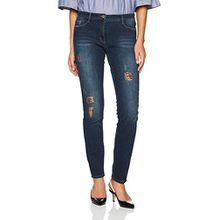 Brax Damen Skinny Jeans BX_MAYA Fame, Blau (Used Vintage Blue 26), W34/L32 (Herstellergröße: 44)