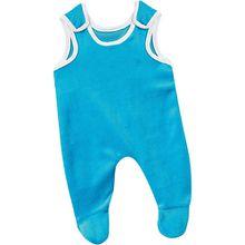 Puppenkleidung Strampler blau, 38 cm