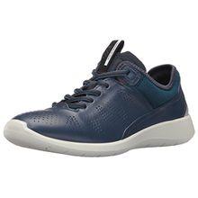 Ecco Damen Soft 5 Sneaker, Blau (50357true Navy/Poseidon-Black), 40 EU