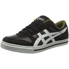 Asics Aaron, Unisex-Erwachsene Sneaker, Schwarz (Black/Light Grey), 41.5 EU (7 UK)