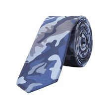 JACK & JONES Camo Krawatte Herren Blau