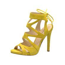 EVITA Damen Sandalette gelb