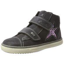 Lurchi Mädchen Swani-Tex Hohe Sneaker, Grau (Charcoal), 31 EU