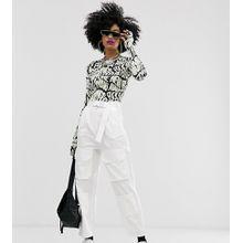 COLLUSION – Hose mit hohem Bund und Taschen-Weiß