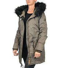 Khujo Damen, Winter, Jacke, Mantel, Dorota, 1065CO173-327, 327 military green, M