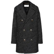 Tweed-Mantel mit Schurwollanteil