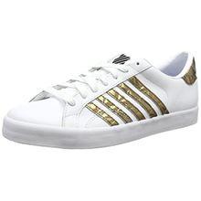K-Swiss Damen Belmont so Sneaker, Weiß (White/Gold/Black), 39.5 EU