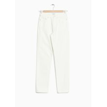 Straight Stretch Jeans - White