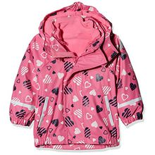 Sterntaler Kinder Mädchen gefütterte Regenjacke, 3in1 Multifunktionsjacke, Alter: 6-9 Monate, Größe: 74, Pink