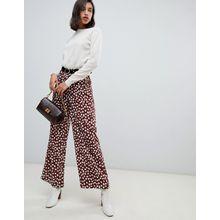 Vero Moda - Hose mit weitem Beinschnitt und gepunktetem Print - Mehrfarbig