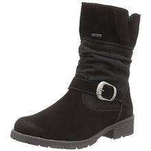 Superfit Heel 508181, Mädchen Biker Boots, Schwarz (Schwarz 00), 33 EU