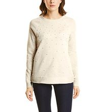 Street One Damen Sweatshirt 300463, Weiß (Shell White Melange 10569), 44