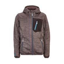 KILLTEC Fleecejacke 'Laerteso' brokat / dunkelgrau