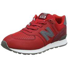 New Balance Unisex-Kinder Gc574v1g Sneaker, Rot (Red/Black), 37 EU