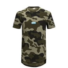JACK & JONES Extra-langes T-shirt Herren Grün