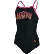 SPEEDO Badeanzug 'Candybounce' pink / schwarz