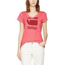 G-STAR RAW Damen T-Shirt Suphe Slim V T Wmn S/S, Rosa (Bright Bazooka 7178), Small