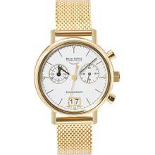 Bruno Söhnle Uhr 'Rondograph 17-33172-290' gold / weiß