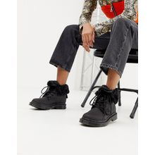 Dr Martens - 1460 Kolbert Snowgrip - Flache Ankle-Boots aus schwarzem Leder - Schwarz