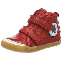 Bisgaard Unisex-Kinder Klettschuhe Hohe Sneaker, Rot (Red), 35 EU