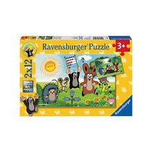2er Set Puzzle, je 12 Teile, 26x18 cm, Der kleine Maulwurf