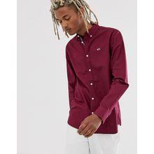 Tommy Jeans - Burgunderrotes Twill-Hemd mit kleinem Logo - Rot