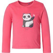TOM TAILOR Shirt 'Panda' himbeer / schwarz / weiß