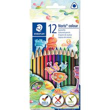 Noris colour Dreikant-Buntstifte, 12 Farben
