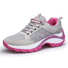 KOUDYEN Damen Mesh Sportschuhe Trendfarben Runners Schnür Sneakers Laufschuhe Fitness,XZ006-grey-EU40