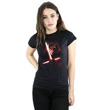 Star Wars Damen The Last Jedi Kylo Ren Brushed T-Shirt Medium Schwarz