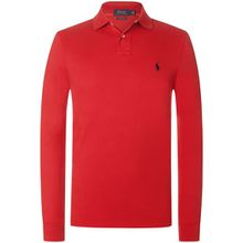 Polo Ralph Lauren Langarm-Polo Custom Slim Fit - Rot (L, M, S, XL, XXL)