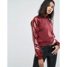 Ivyrevel - Sweater mit verzierten Puffärmeln - Rot